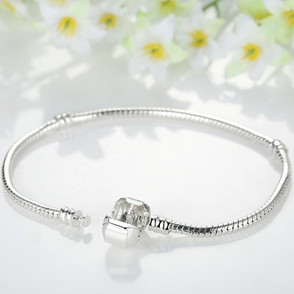 16cm-21cm Snake Chain Bracelet Silver Plated Snake Chain Bracelet For Men Women A1104(China (Mainland))