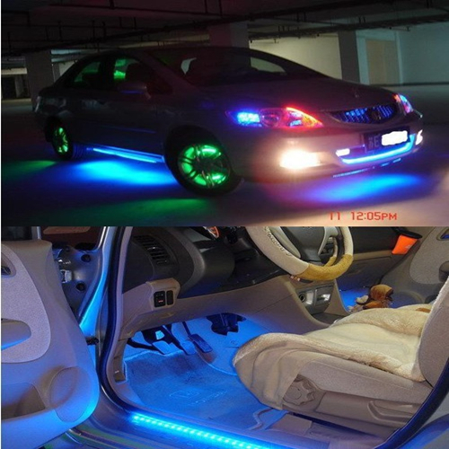 12V 24cm LED Car Styling DRL Light Strip Daytime Running motorcycle car bike decoration waterproof - Lake Shopping Center store