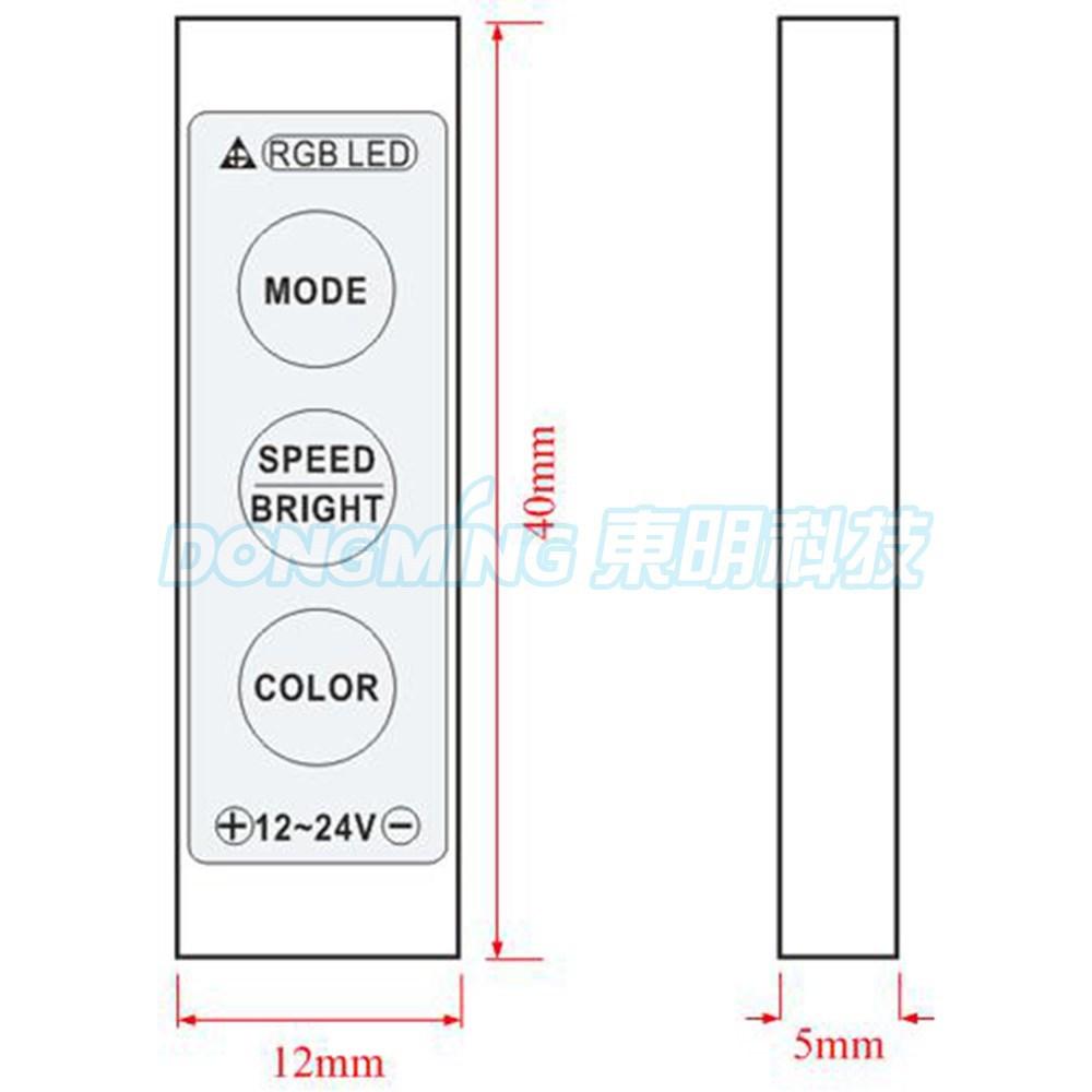 ∞25pcs 12A DC 12V-24V LED ღ ღ RF RF Mini 3 Buttons ヾ(^ ^)ノ