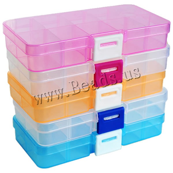 10 Slots Adjustable Transparent Jewelry Storage Box Ring Earring Drug Pill Beads Portable Plastic Organizer Case Travel Bins<br><br>Aliexpress