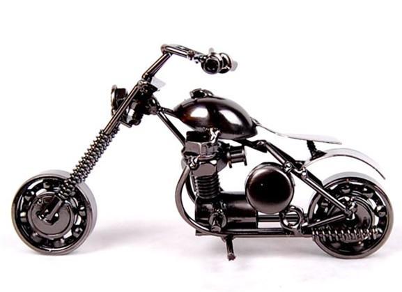Metal iron home decoration motorcycle Handmade Models Vintage Iron artware birthday gift free shipping(China (Mainland))