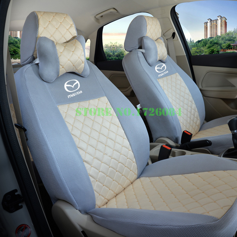 2 front seat universal car seat cover for mazda 3 6 cx 5 cx7 323 626 m2 m3 m6 axela familia. Black Bedroom Furniture Sets. Home Design Ideas