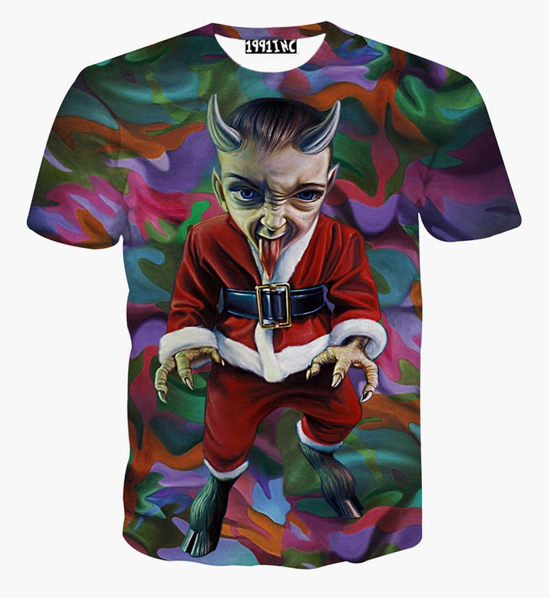 3D Personality Funny Cotton Image T Shirt Men Print 2015 New Arrival Summer Style Clothes Fashion Casual Short Sleeve T-shirt(China (Mainland))
