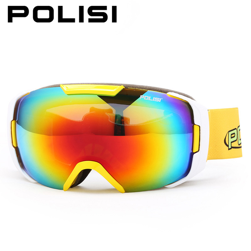 POLISI Winter Anti-Fog Skiing Glasses Snowboard Skate Snow Goggle UV400 Double Layer Large Spherical Lens Snowmobile Ski Eyewear<br><br>Aliexpress