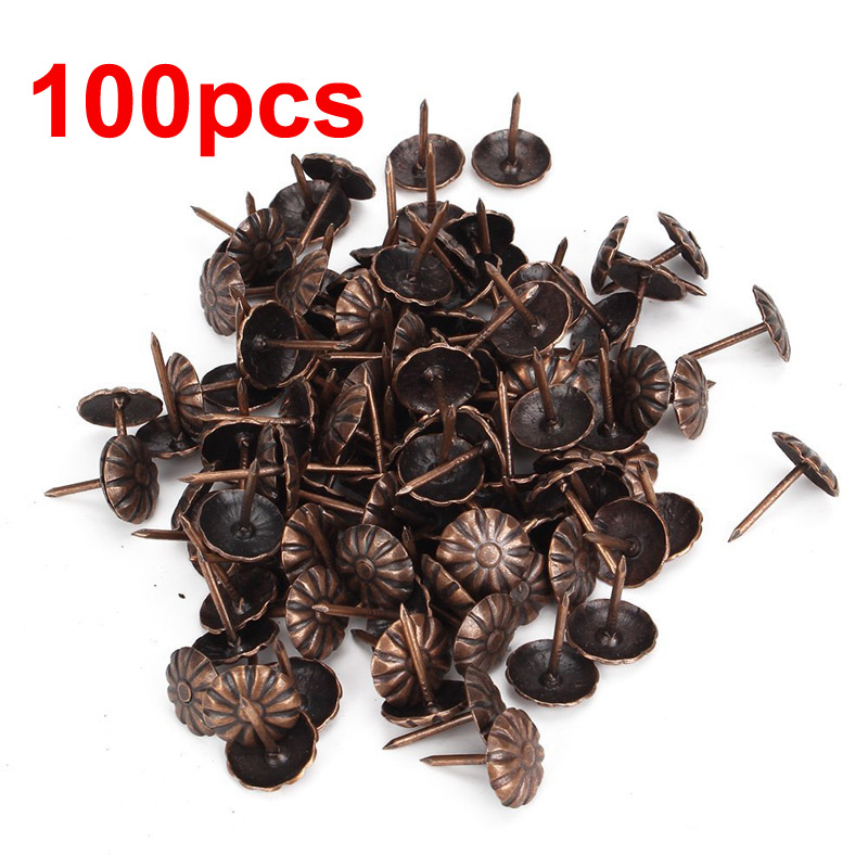 100pcs Elegant Vintage Upholstery Nails Bronze Metal Tags For Furniture 11x16mm(China (Mainland))