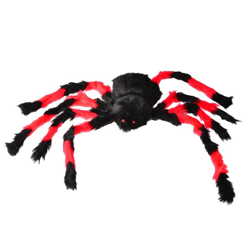 75cm Large Size Plush Spider made of wire and plush two style Funny Toy for party or Bar KTV halloween decoration