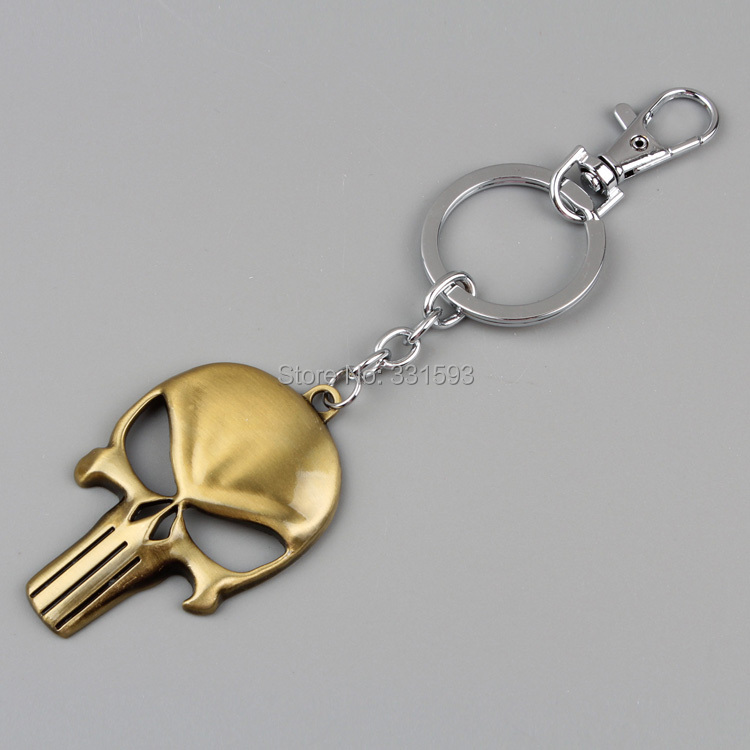 Punisher Keychain Metal Figure Toy Pendant Key Ring Fashion chain Men Women ANPD1281 - WXY-TOY LTD store