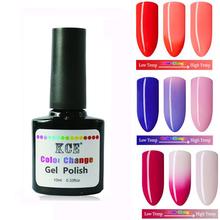 Unhas de Gel polonês mudança de temperatura de cor UV Gel polonês gradiente unhas de Gel para unhas de molho off Gel polonês 10 ml / 1 pc