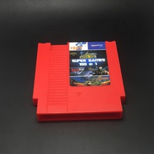 72pins 150 in 1 Game Cartridge with game Rockman 1 2 3 4 5 6 NINJA TURTLES Contra Kirby's Adventure (Battery Save) Red Case