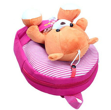 New 2015 Children School Bags Cartoon Bear Backpack For Baby Mochila Infantil Retail 1PC ZZ3056