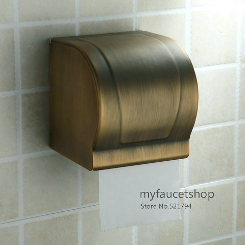 New Space Bronze Toilet Paper Holder Roll Tissue Case With
