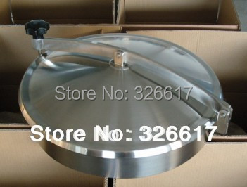 430mm Heavy Duty Round Manway, Non-pressure Manhole Cover, Stainless Steel 304 Food Grade Mandoor(China (Mainland))