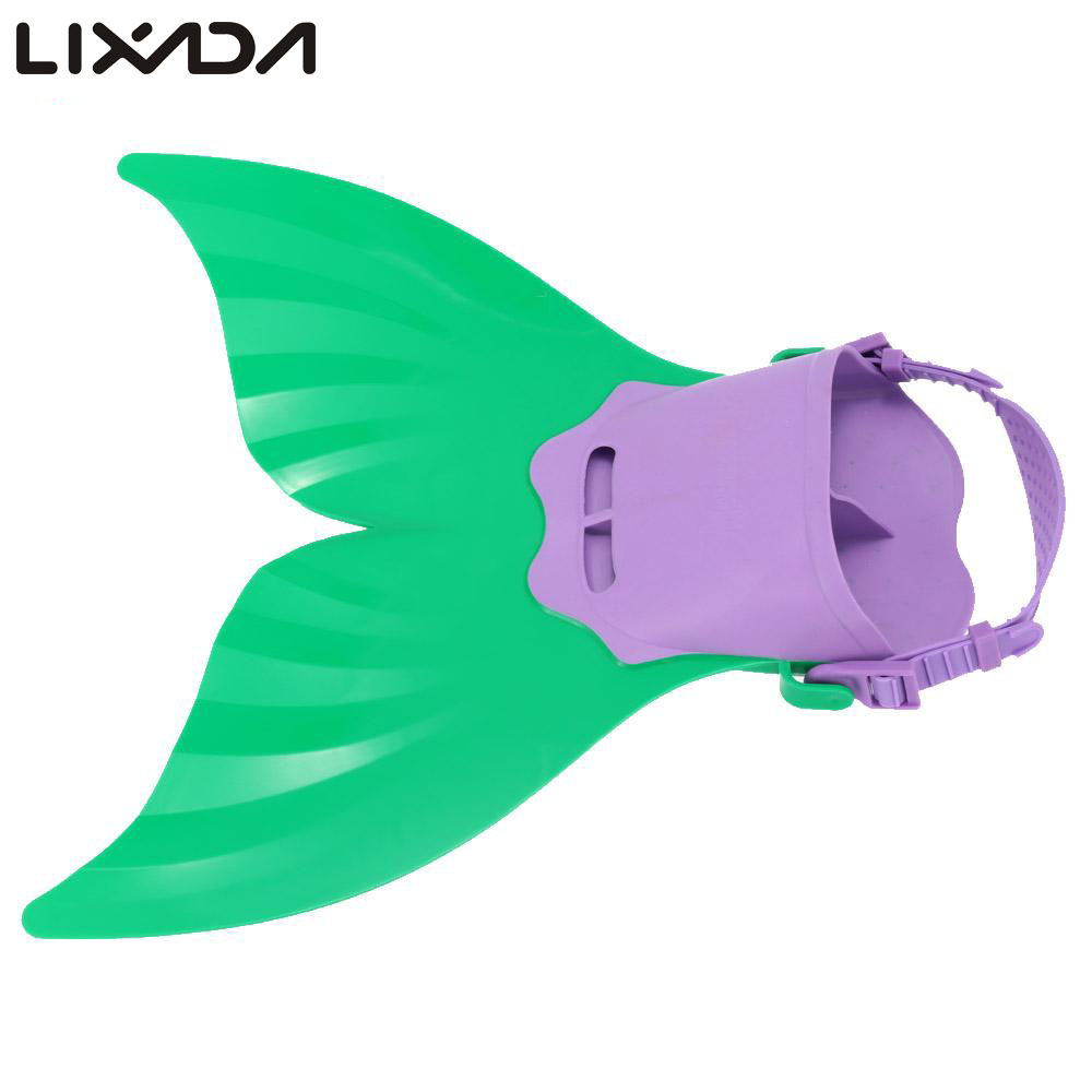 Cute Swimming Fins for Kid Children Mermaid Swim Fin Swimming Foot Flipper Training Shoes Tail Diving Feet Tail Monofin(China (Mainland))