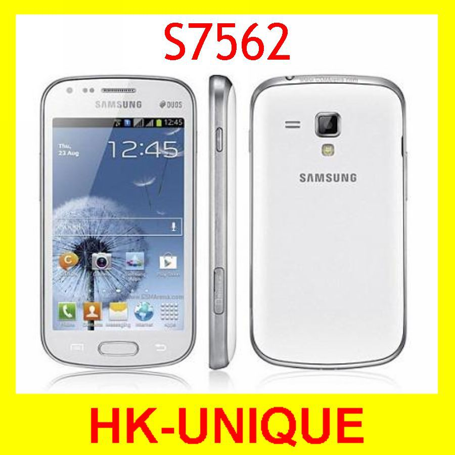 Original Samsung Galaxy S Duos S7562 Unlocked Cell Phone Dual SIM Cards GSM 3G 4.0 Inch Wifi GPS 5MP Camera Free Shipping(China (Mainland))