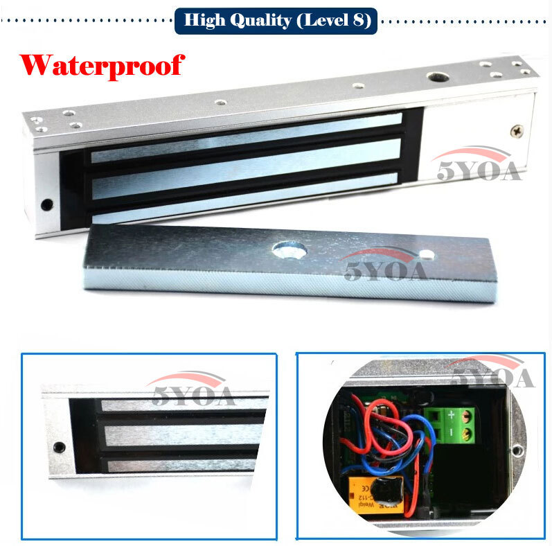 Level 8 Electric Magnetic Door Lock Waterproof 280kg 600lbs Holding Force Electromagnetic Electronics 5Y2808w(China (Mainland))