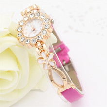 Montre Femme Watches Women 2016 Clock Female Gold Women Steel Quartz Wrist Watch Wristwatches Wholesale Relogio
