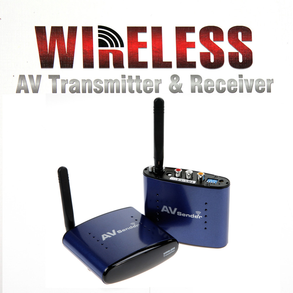 HD Wireless 5.8GHz AV TV Audio Video Sender RCA Transmitter Receiver 200m IR Remote For DVD DVR IPTV STB free shipping(China (Mainland))