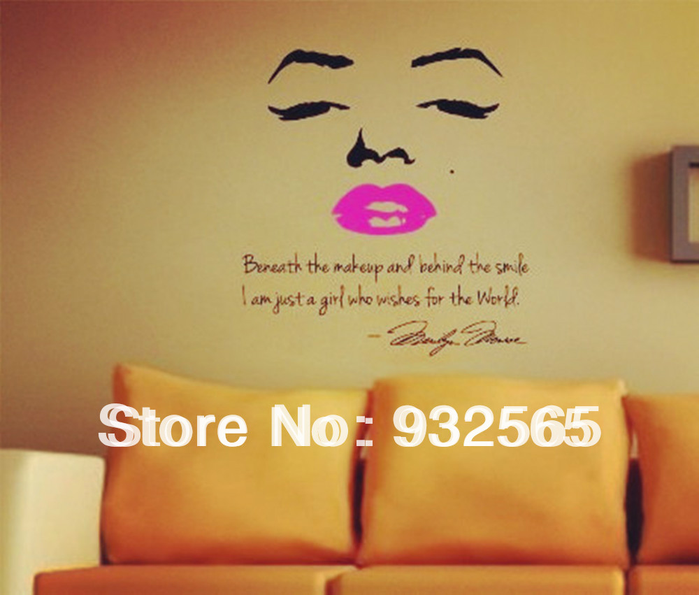Buy sexy lips wall quotes letter and for Living room decor quotes