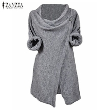 Buy Oversized 2017 Autumn Women Casual Loose Knitted Blouses Shirts Long Sleeve O Neck Pullovers Tops Plus Size Outwear Cardigan for $10.39 in AliExpress store