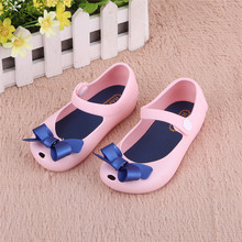 2016 Kids Shoes Girls New Baby Rubber Mini Cute Bow Girls Sandals Children Shoes Bow Summer Sandals Rain Boot zapatos(China (Mainland))