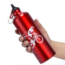 Useful New Cycling Camping Bicycle Sports Aluminum Alloy Water Bottle 750ml