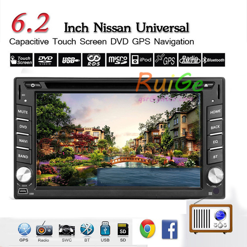 2 Din 6.2 inch Car DVD Player LCD touch Screen Car Stereo GPS Navigator Radio Receiver double din bluetooth usb Bluetooth TV()