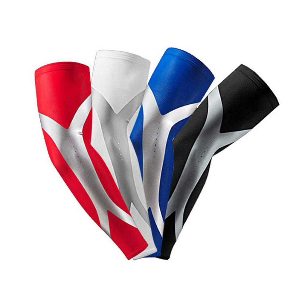 1Pcs Elastic Breathale Elbow Arm Warmers Pad Quick Dry Sports Safety Cycling Basketball Long Arm Sleeve Elbow Support Protector(China (Mainland))
