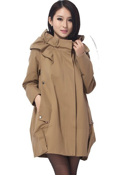New 2013  Casual Hooded Military Parka For Women Cotton Army Jacket with Hood Long Sleeves Loose Jacket Autumn 2013 AW13J018