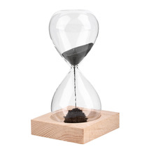 1pc Hand-blown Timer clock Magnet Magnetic Hourglass sand clock hourglass timer Gift Home Decor(China (Mainland))