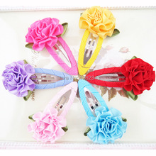 2pcs Baby Girls love Hair Clip Band Hairpins Toddler Kids Flower Fashion Gift 6 Colors BB children's birthday gift