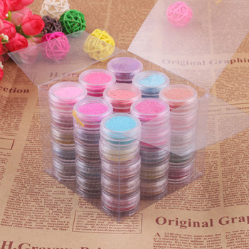 Beautiful 45 Color Make Up Decor Glitter Sparkle Dust Powder Nail Art Body Pigment Set #11487