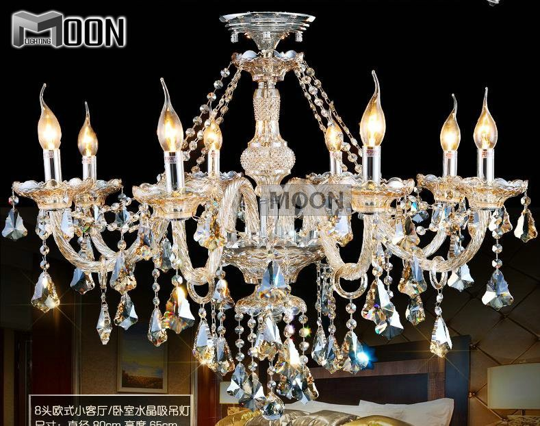 New Arrival Cognac Glass Crystal Chandelier Lamp Style of  Palace Cristal Pendelleuchte with 8 Lights MD3148<br><br>Aliexpress