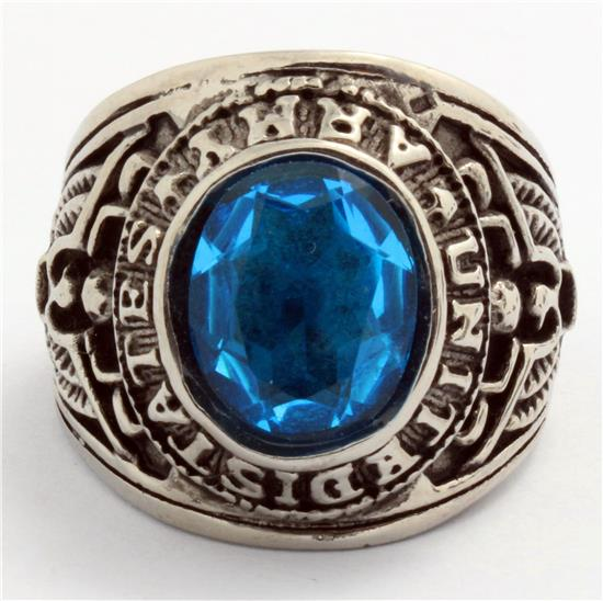 2013 Hot Sellers 100% Silver Stainless Steel Special Crystal CZ Blue Rings Men Gothic Free Shipping<br><br>Aliexpress