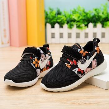 Цветочные кроссовки дети Roshelis Run обувь мальчики 2015 кроссовки обувь для девочек спортивная обувь Zapatos Mujer Huarache дети кроссовки