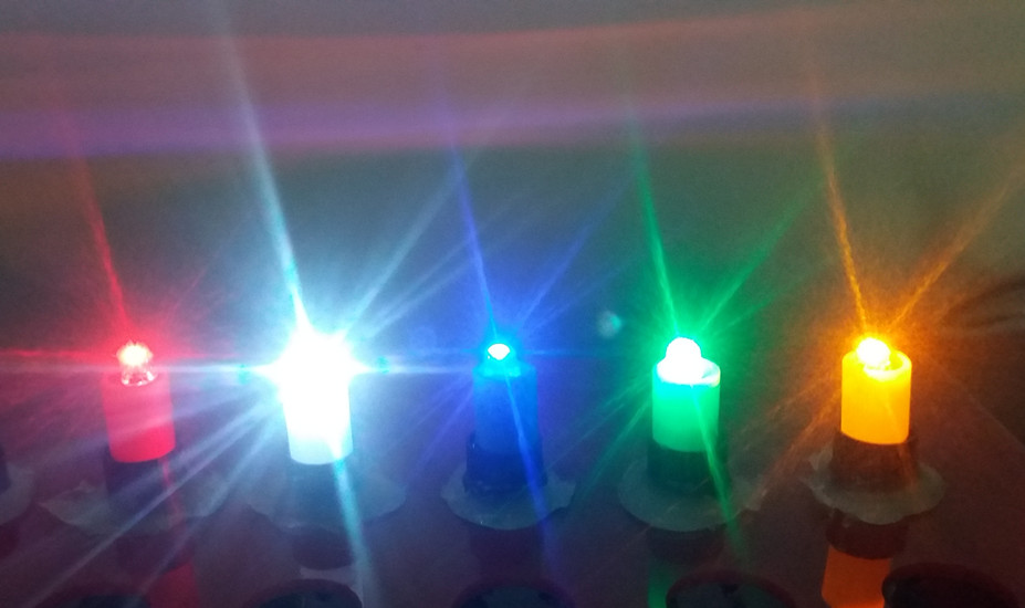 100 pcs /lot DC12V LED light, green, blue, white, yellow, and red for button, arcade parts<br><br>Aliexpress
