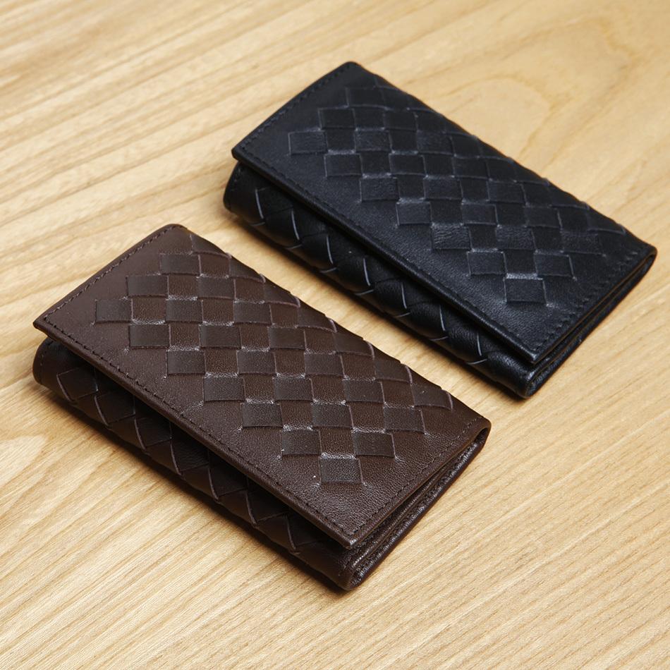 LAN free shipping fasihon mens leather woven key case cow leather key wallet woven key holder<br><br>Aliexpress