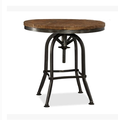 Custom American country to do the old retro furniture, wrought iron can lift a small round table coffee table coffee table leisu(China (Mainland))