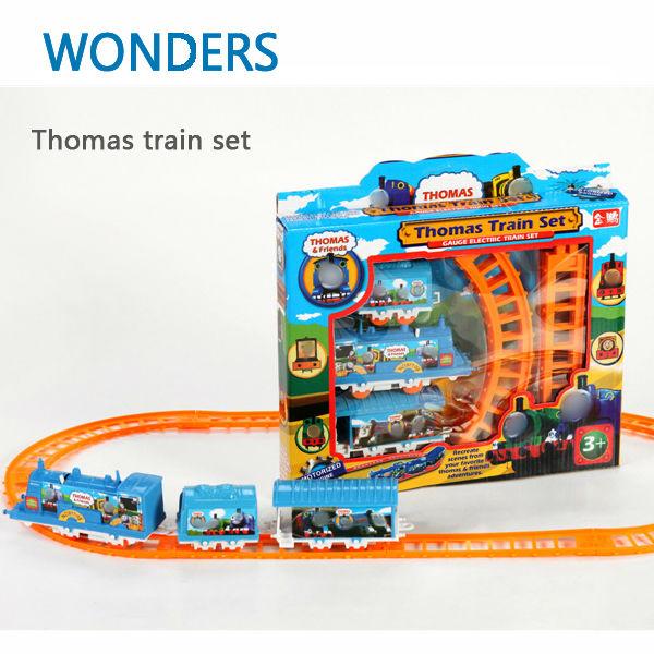 Thomas Train children Toys Educational Electric Rail Train Thomas and Friends Mini Electric Train Set Track Toy(China (Mainland))