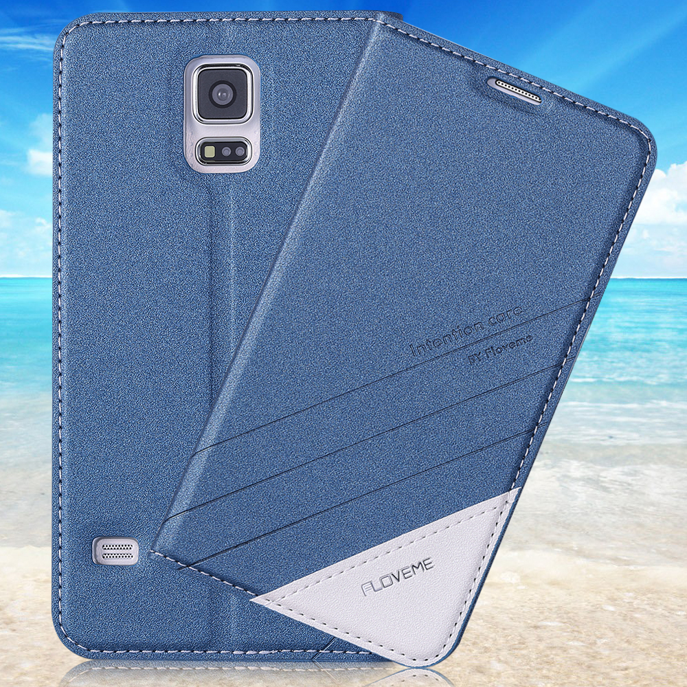 S6 Cases Luxury Ultra Thin Stand Wallet Leather Cell Phone Case Cover For Samsung Galaxy S6 G9200 With Card Slots & FLOVEME Logo(China (Mainland))