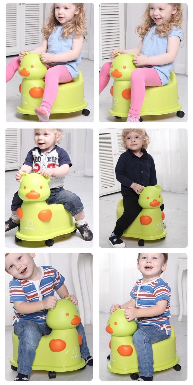 красочные горшки Каваи медведь многофункциональный горшок дети туалет стул с портативный колесо горшок ребенка Иордании игрушка автомобиль hk449