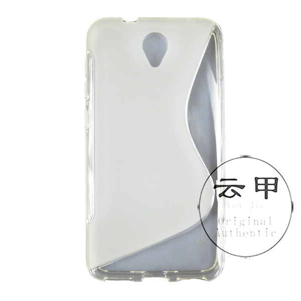 [YunJia]For OT-6037K Case,2014 New Mobile Phone Shell,S Line Style TPU Case For Alcatel One Touch Idol 2 OT-6037K(China (Mainland))