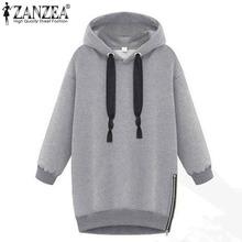 Winter Autumn 2016 Zanzea Fashion Women Long Sleeve Hooded Jacket Loose Warm Sport Hoodies Solid Sweatshirt Plus Size 3 Colors(China (Mainland))