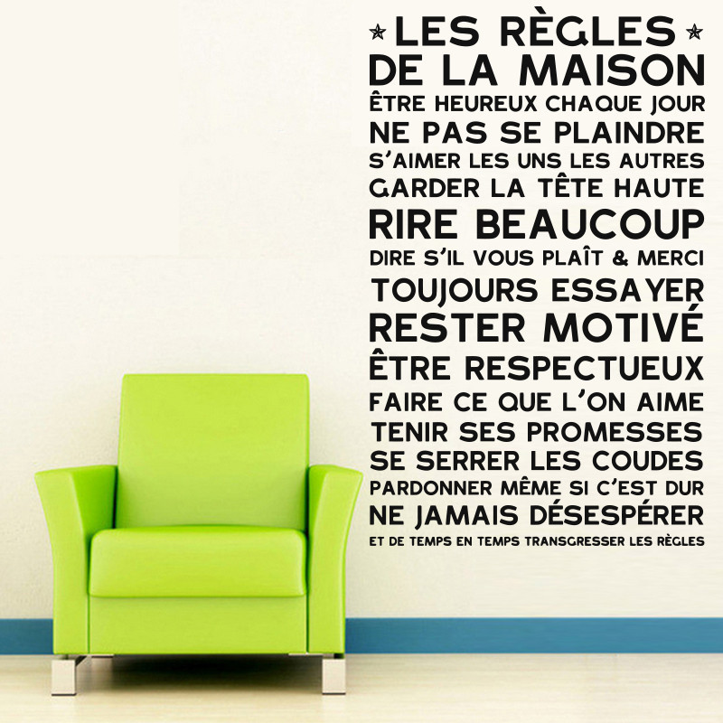 art design house rules wall sticker french version family house rules poster zazzle