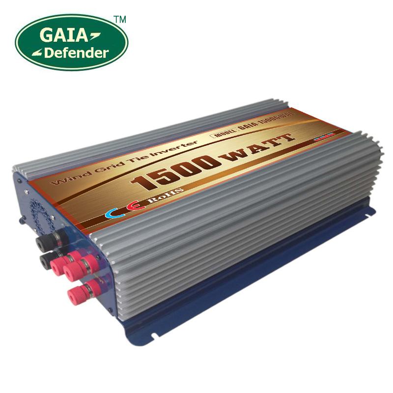 1500W Wind Power Grid Tie Inverter with Dump Load Controller for 48V(45-90V) 3 Phase wind turbine 220V 230V 240V output(China (Mainland))
