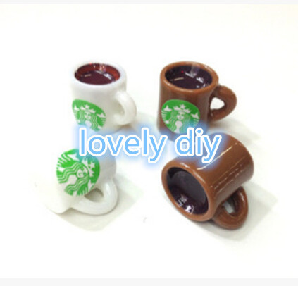 50pcs/lot 17*14MM Kawaii mini coffee cup resin deco Resin Flatback cabochon for Diy cell phone Decoden(China (Mainland))