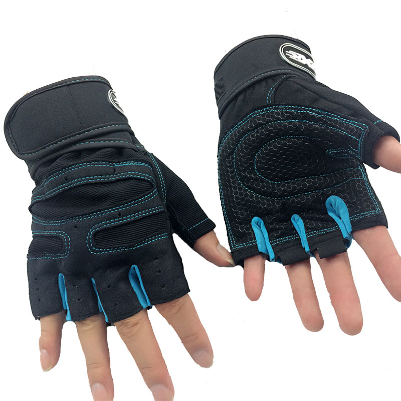 Gym Body Building Fitness Training Gloves Sport Equipment Weight lifting Workout Exercise breathable Wrist Wrap Wholesale Custom(China (Mainland))