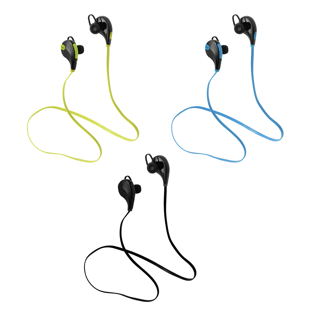 Bluetooth Earphones Wireless Earbuds Sports Stereo In-Ear Noise Canceling Sweat-proof Headset Green/Blue/Black TH355-TH357(China (Mainland))