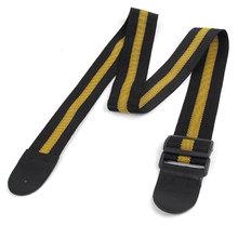 UXCELL Dark Yellow Black Adjustable Nylon Webbing Belt Guitar Strap(China (Mainland))