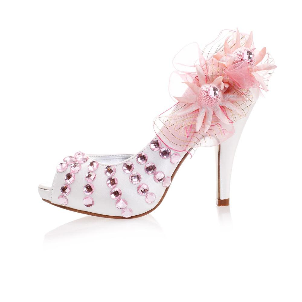 Фотография bridal bridesmaid flower shoes  high heel lady