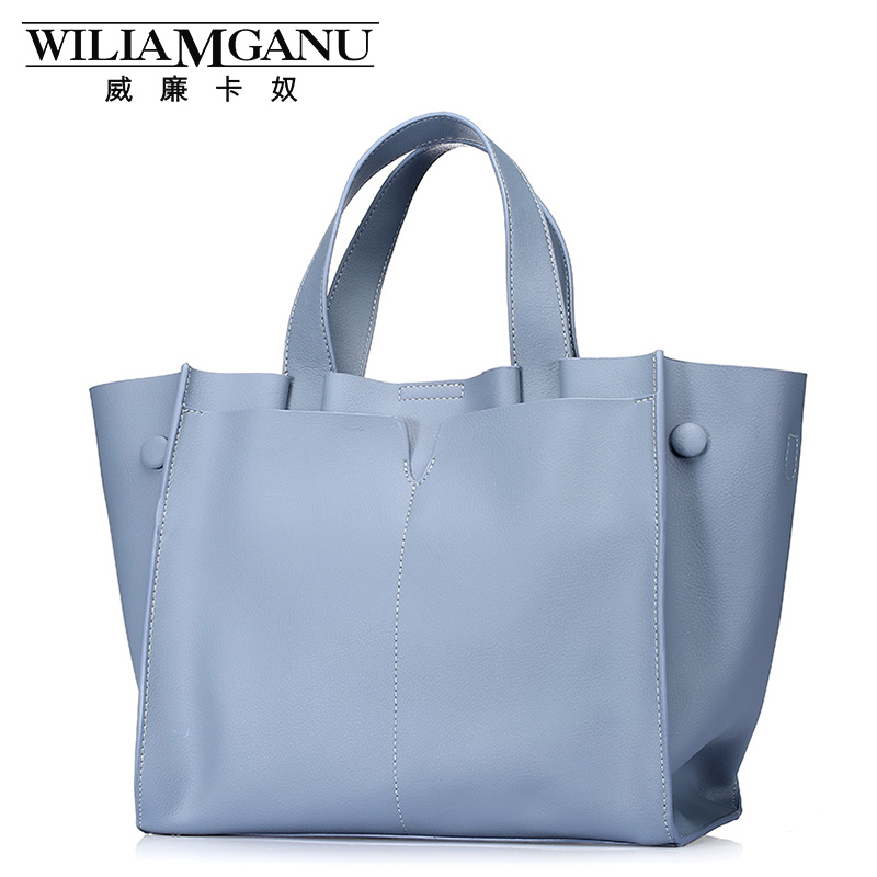 William card slave the new spring/summer 2016 women leather bag shoulder bag inclined shoulder bag is contracted shopping bag(China (Mainland))